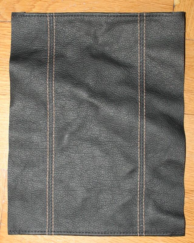 Leder für den Deckel